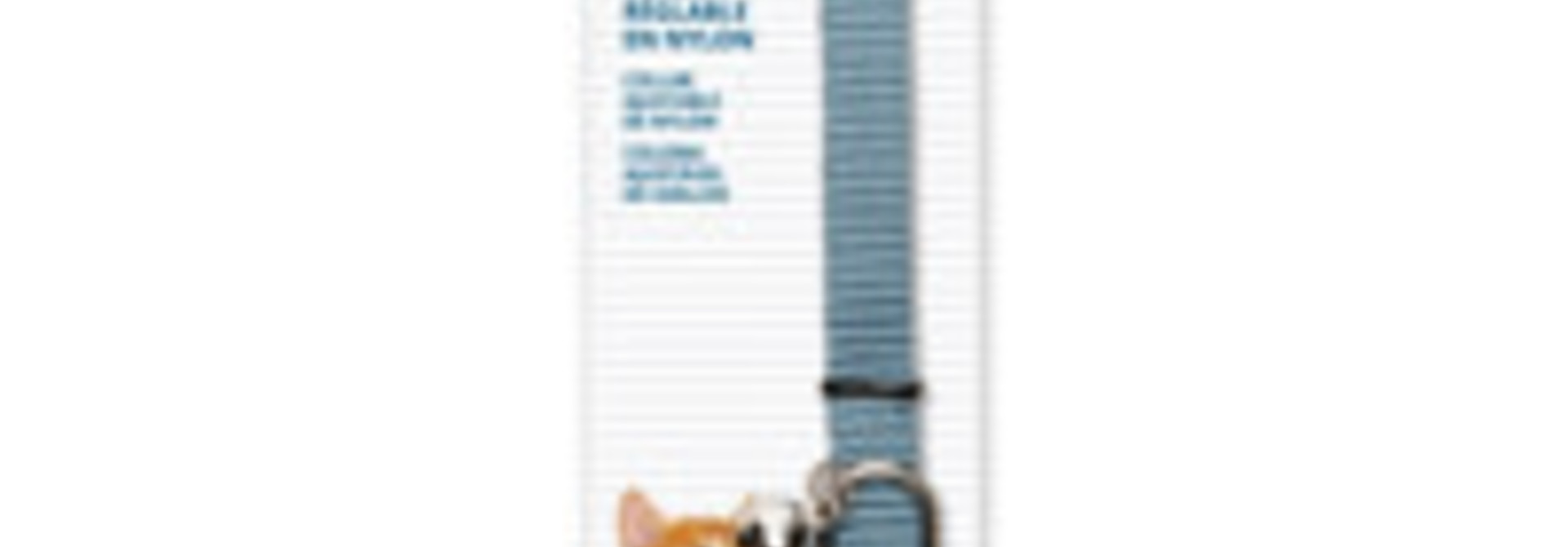 Breakaway Nylon Collar - Blue - 20-33 cm