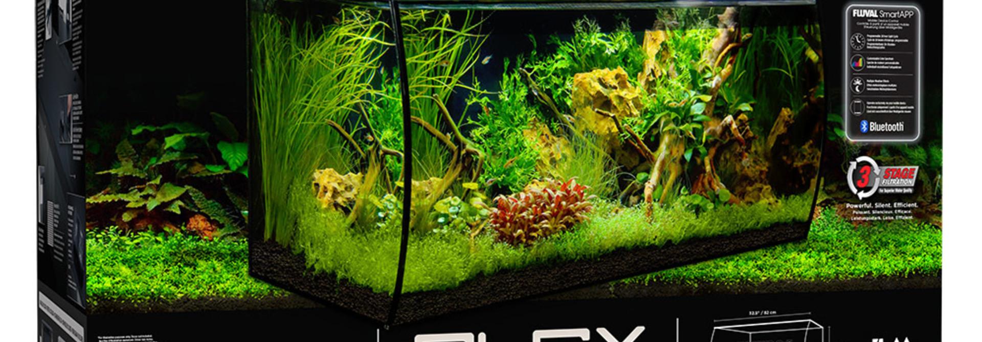 FLEX Aquarium Kit - Black - 123 L (32.5 US Gal)