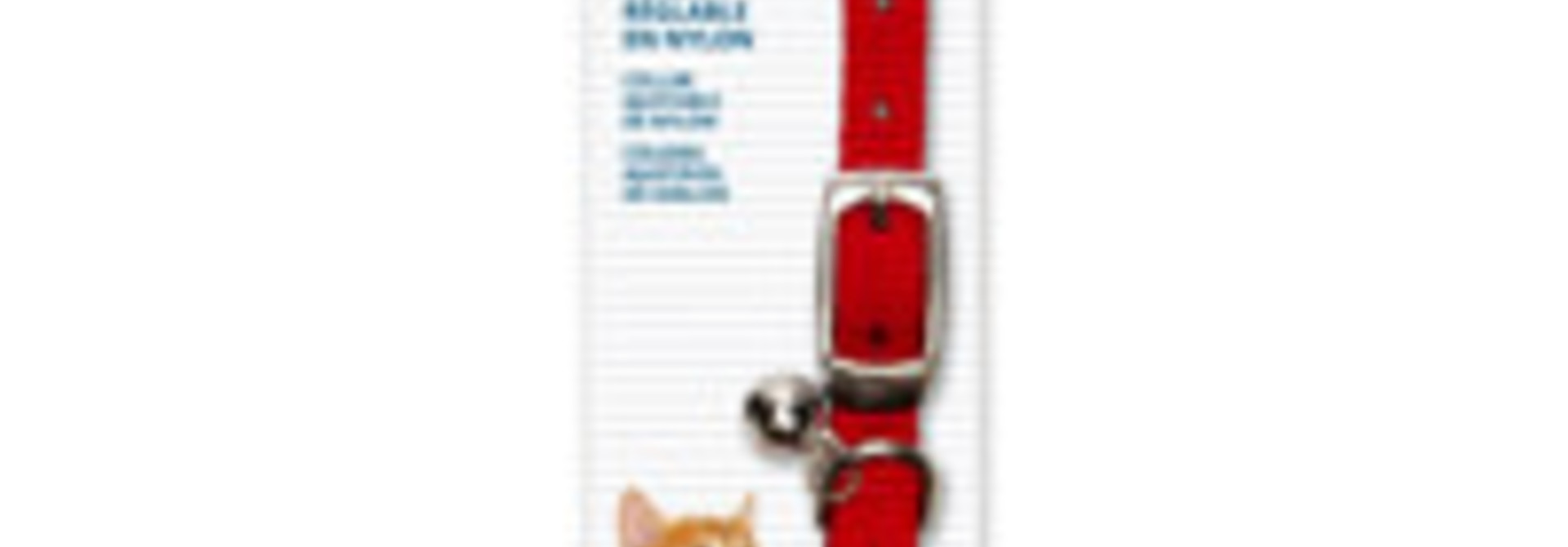 Catit Adjustable Nylon Expandable Collar - Red -