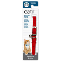 Catit Adjustable Nylon Expandable Collar - Red --1