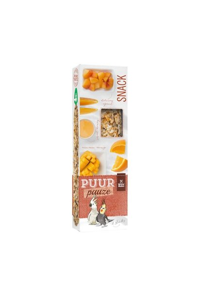 Large Parakeet Apricot Treat Sticks