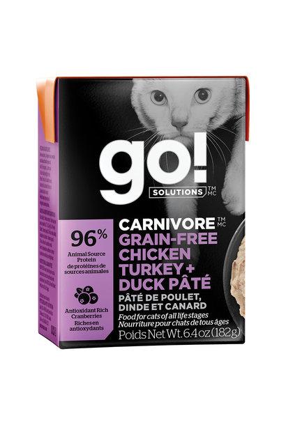 GO!Carnivore Chicken,Turkey&Duck 24/6.4OZ/Cat