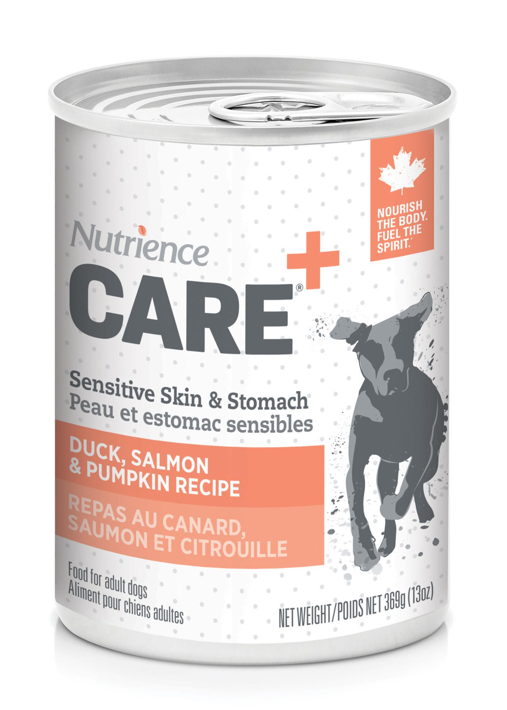 Nutrience Care Dog Sensitive Skin, & Stomach - Duck, Salmon - 369g