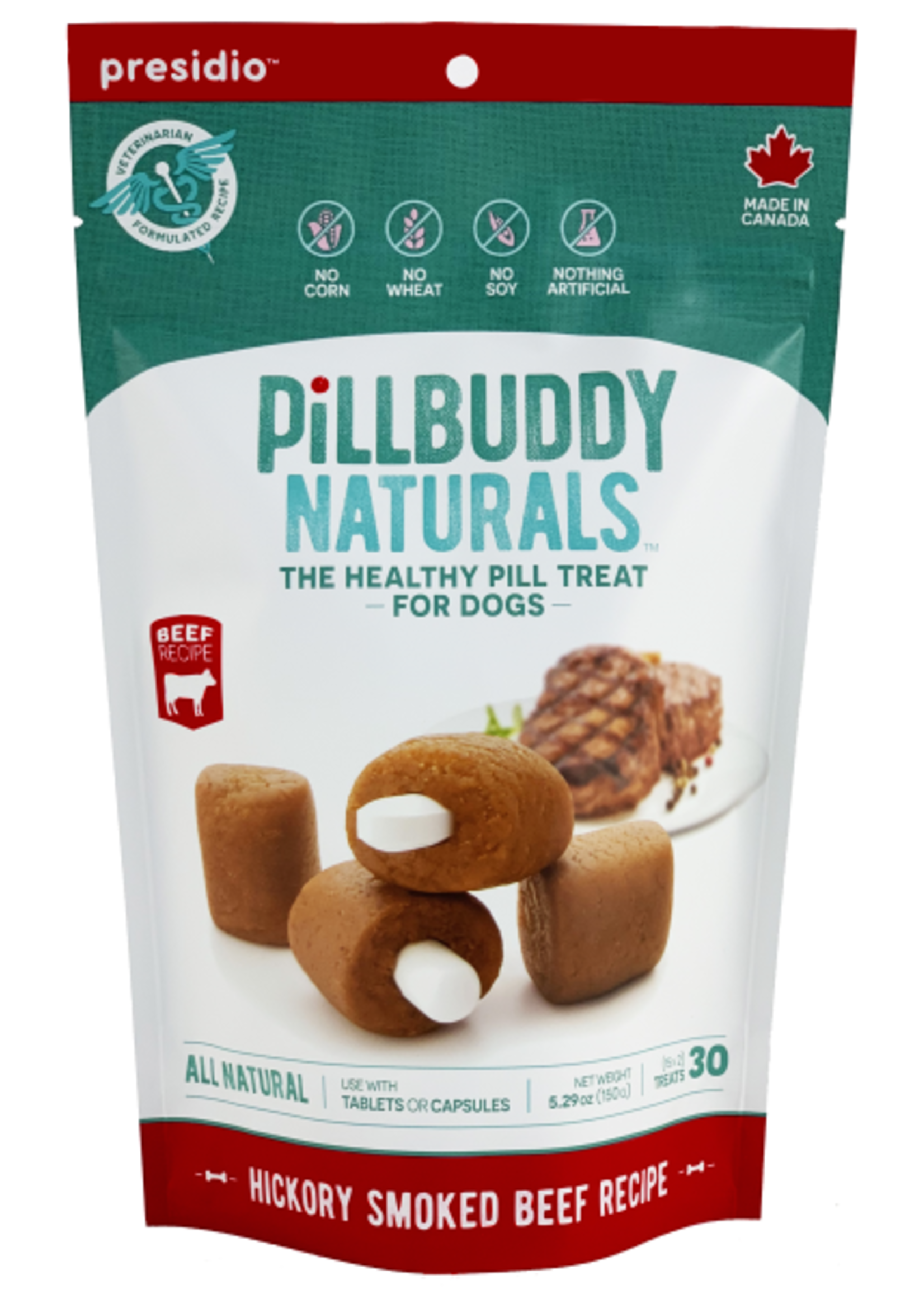 Pill Buddy Naturals Hickory Smoked Beef 150g 30ct
