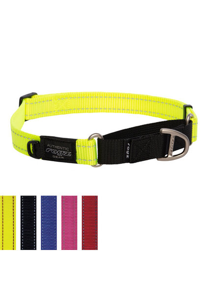Control Collar Web Large Yellow