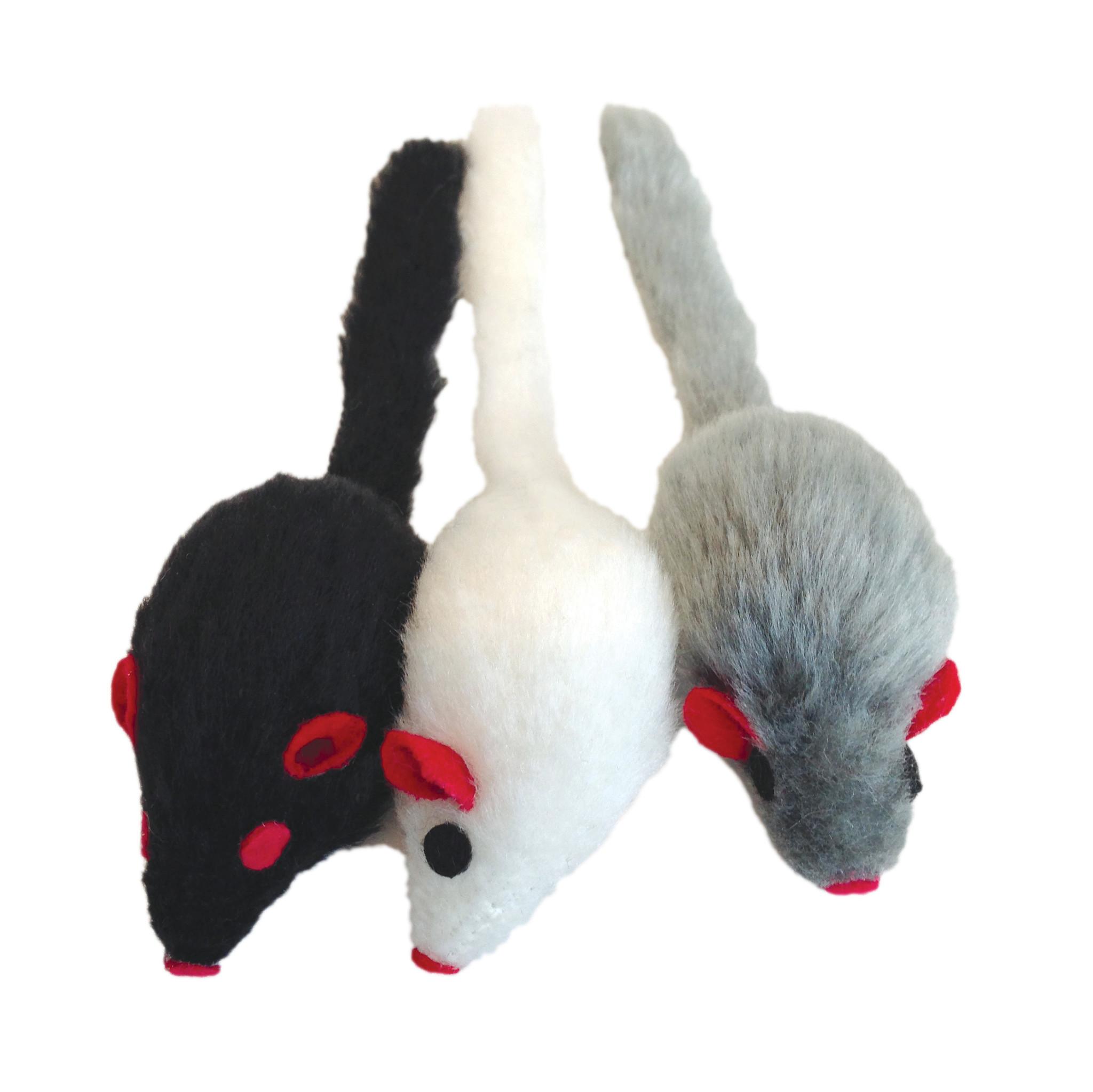 CL Furry Frolics, Catnip Furry Mice 3pck-1