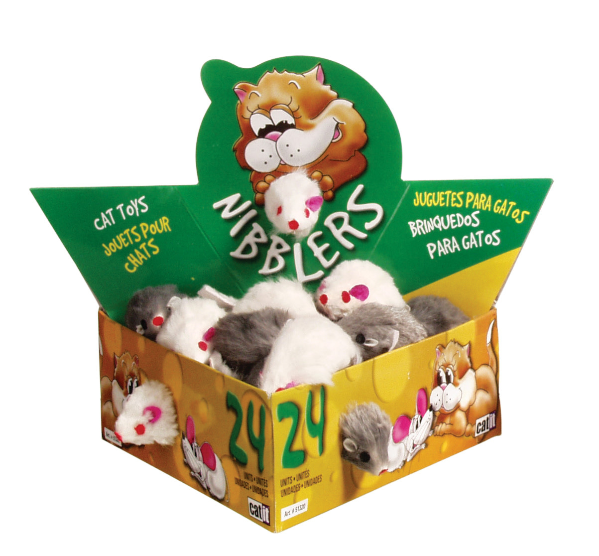 Catit Deluxe Fur Mouse, Small-1