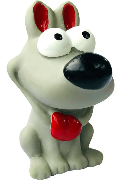 "Latex Squeaker Dog Toy - 3.5"" Grey"