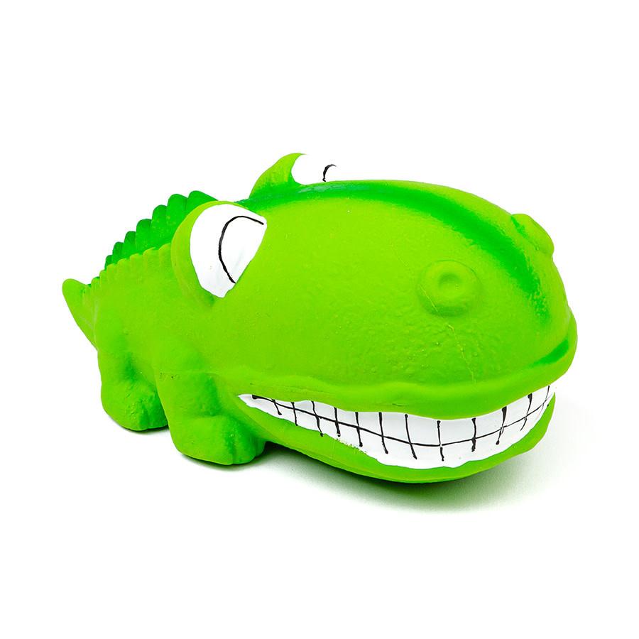 "Latex Big Snout Dog Toy -Alligator 7"" Green-1"