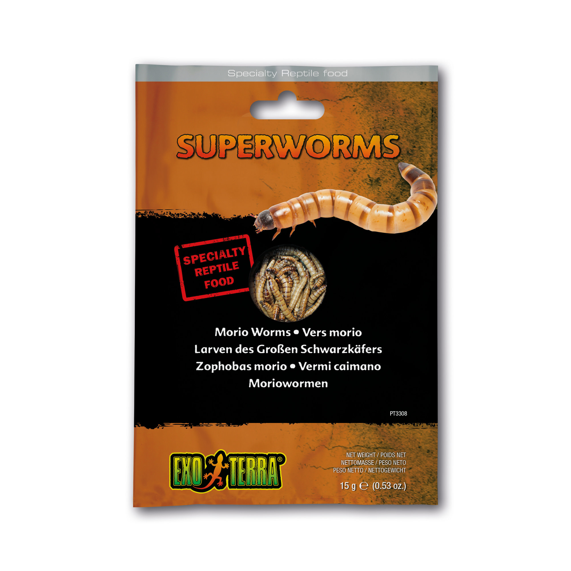 EX Reptile Food, Superworms ,15g-1