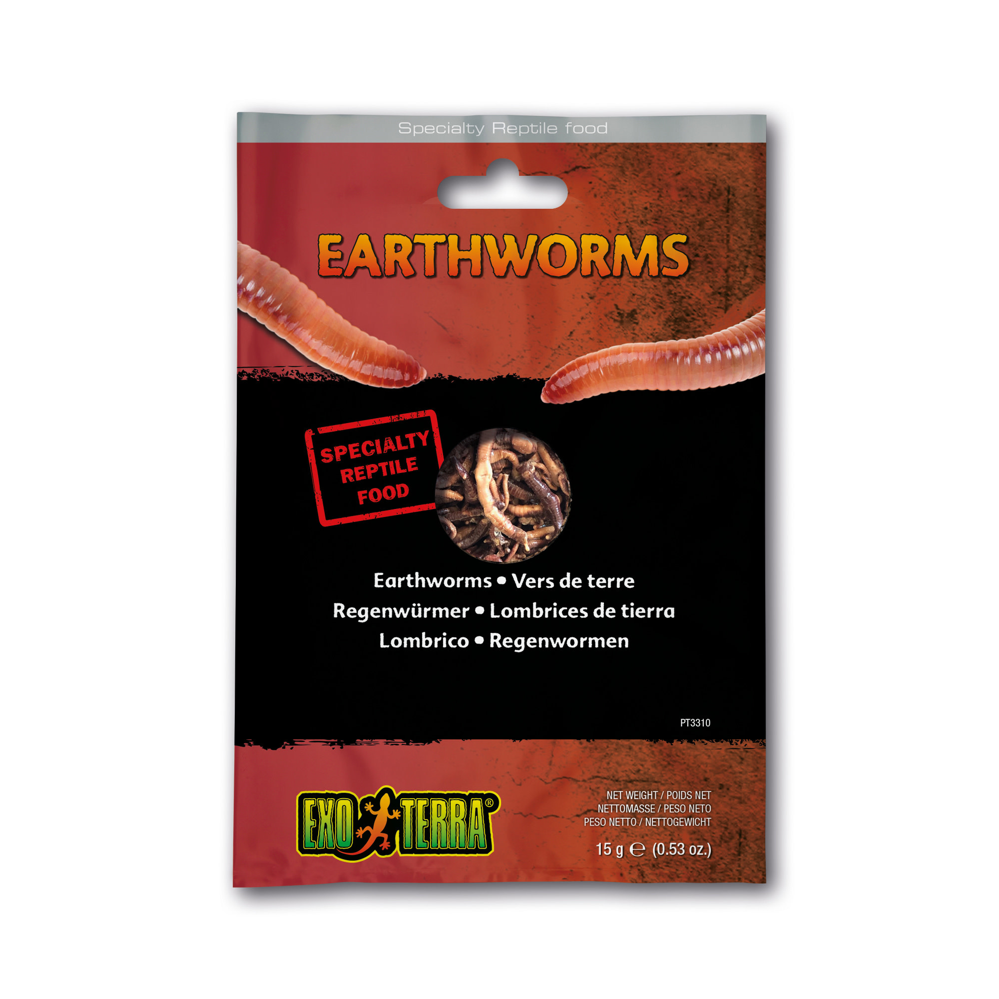 EX Reptile Food, Earthworms ,15g-1