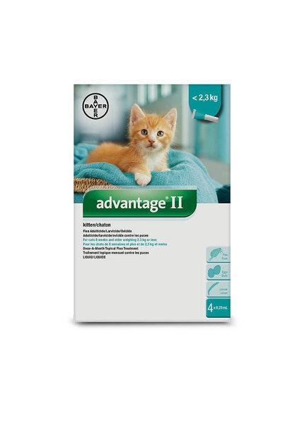 Advantage II Small Cat 6 Doses 2.3-4kg
