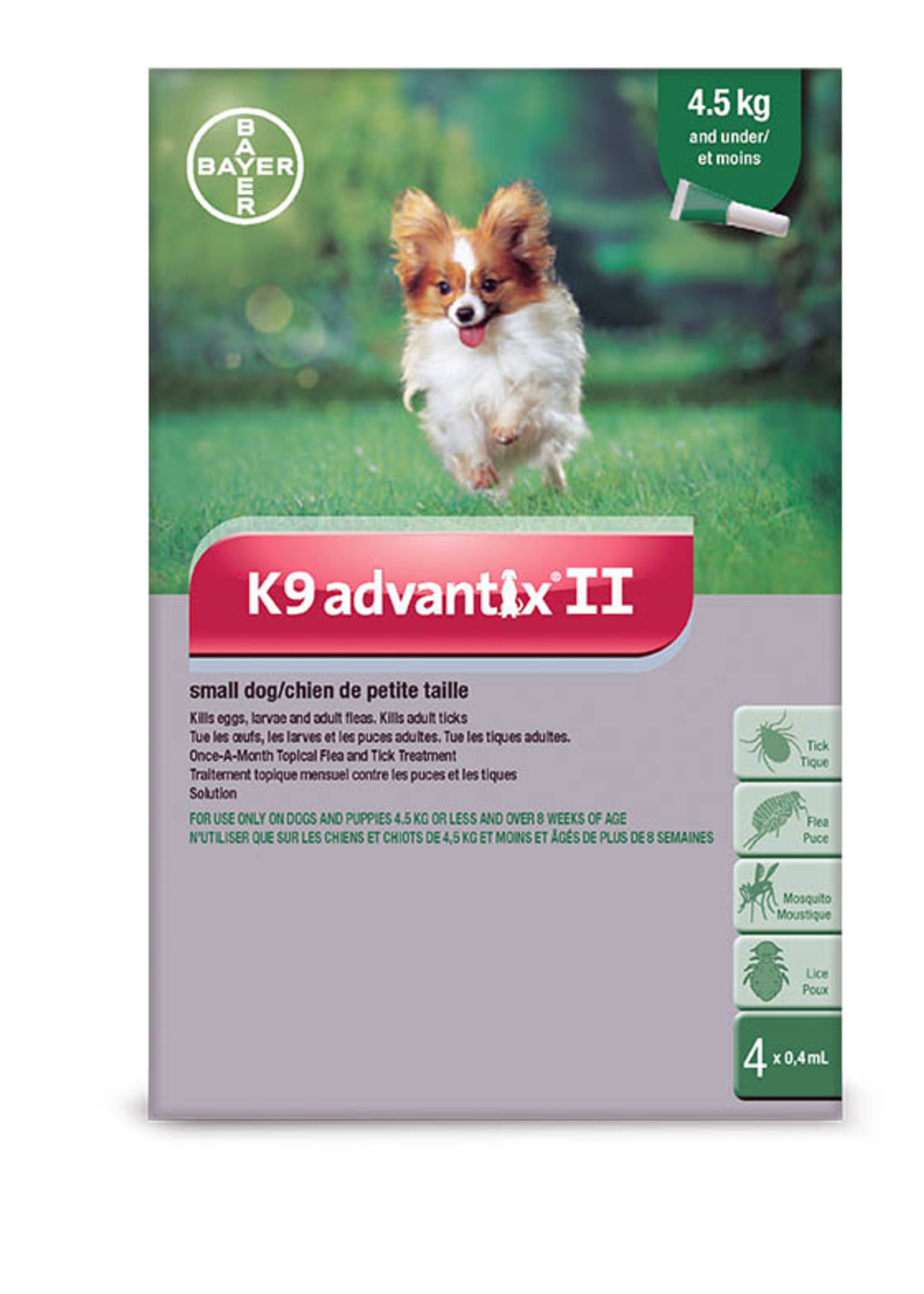Bayer K9 Advantix II Small Dog 2 Doses