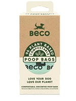 Beco Unscented Compostable Poop Bags - 96 Bags