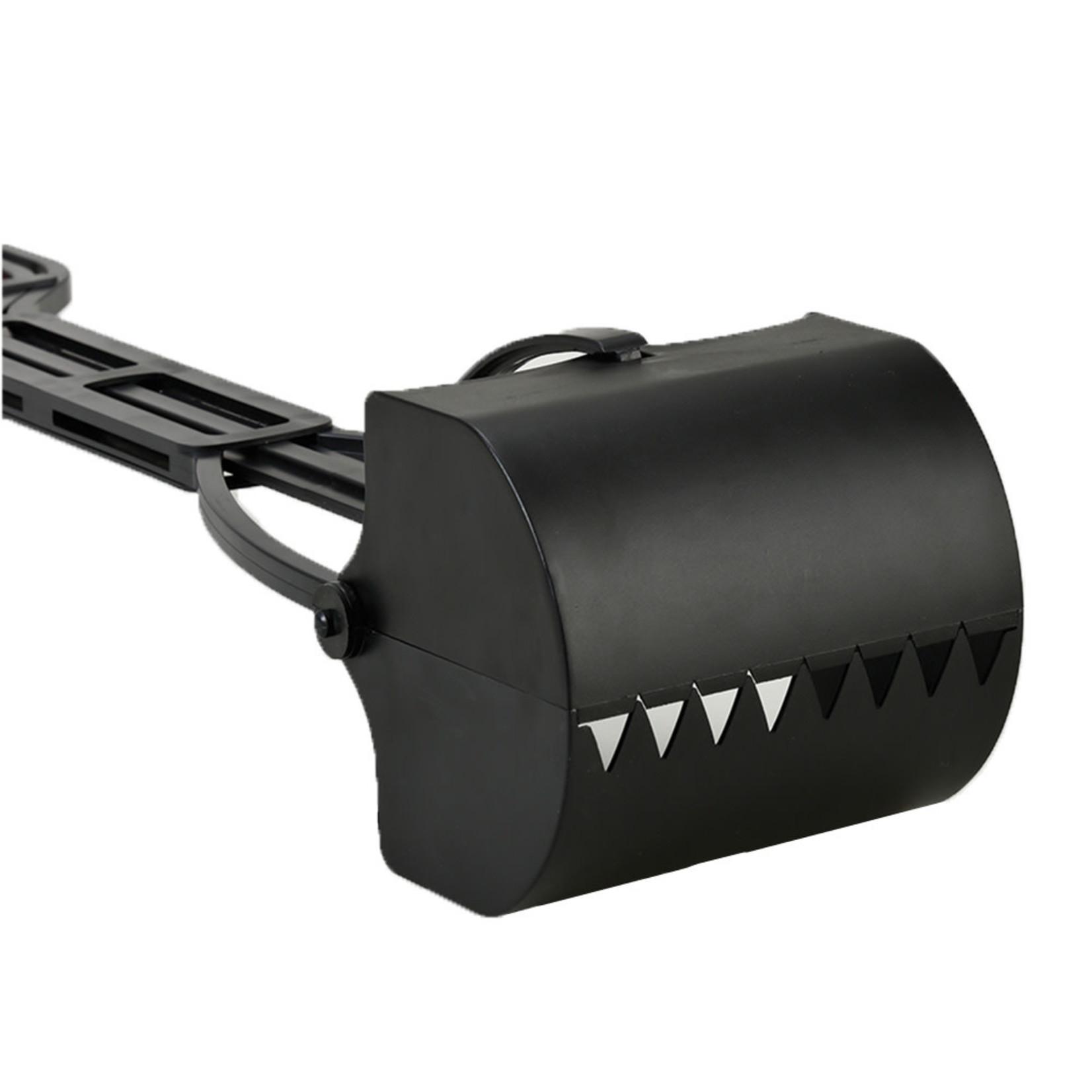 Plastic Scoop Rake Black 25in