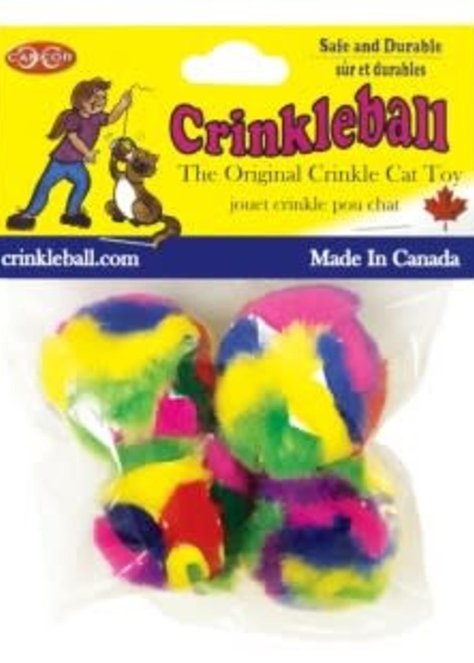 Burgham Cat Toys Cancor Mini CrinkleBall 4/Pack