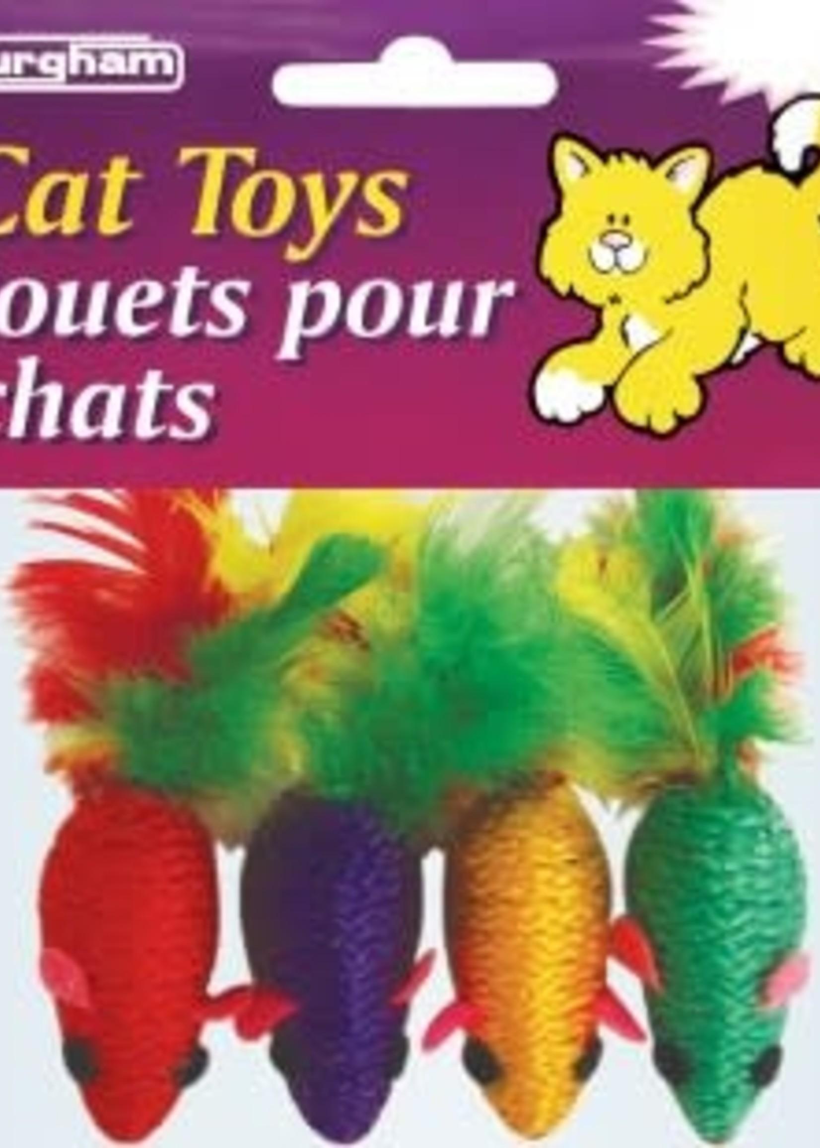 Burgham Cat Toys BURG CatToy RopeMouse/4