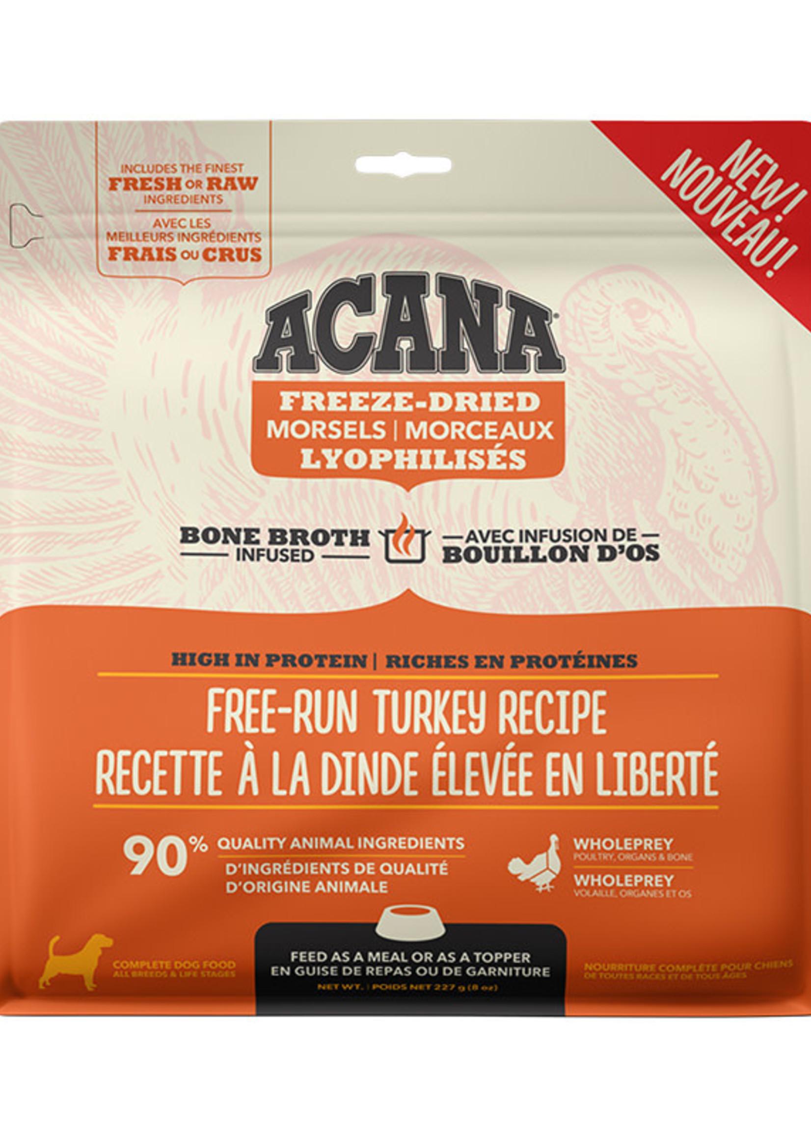 Acana Dog Free Run Freeze Dried Turkey Recipe - Morsels  227g