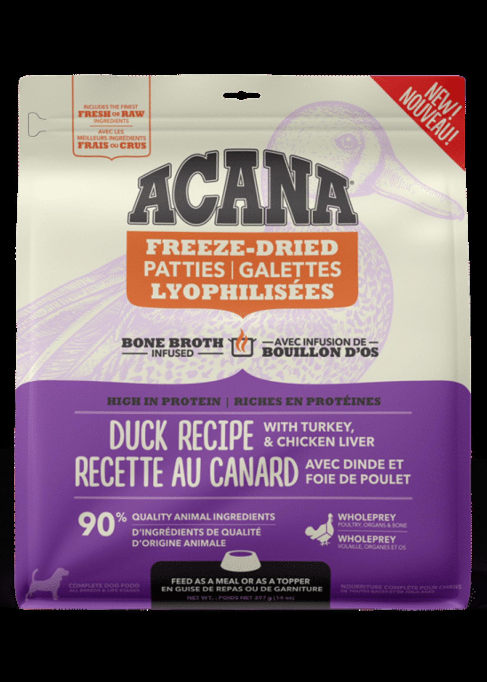 Acana Dog Freeze Dried Duck Recipe - Patties - 397g