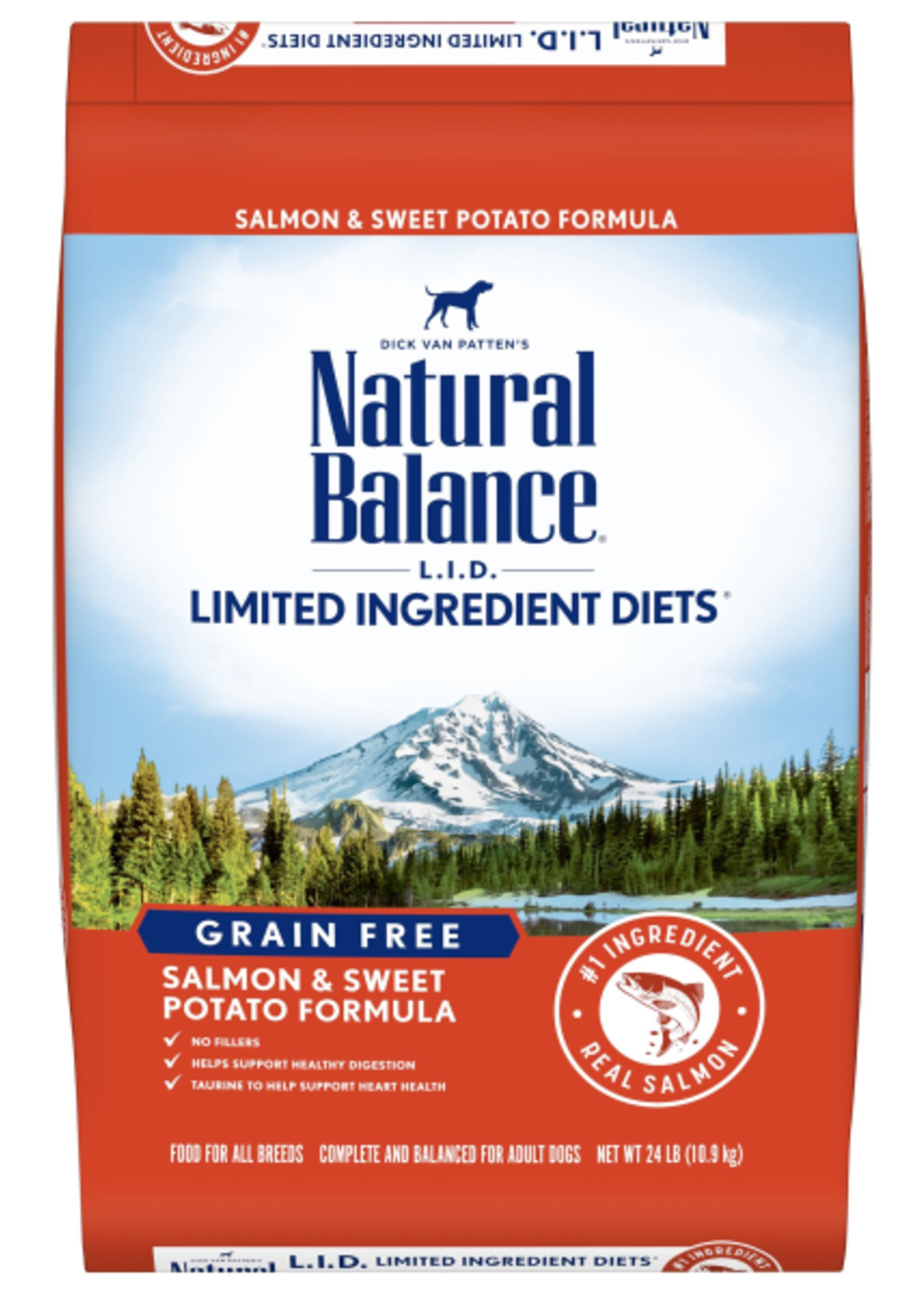 Natural Balance LID Salmon & Sweet Potato Adult Dog - 24lb