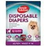Simple Solutions Disposable Female Diapers XSmall/Toy 12PK