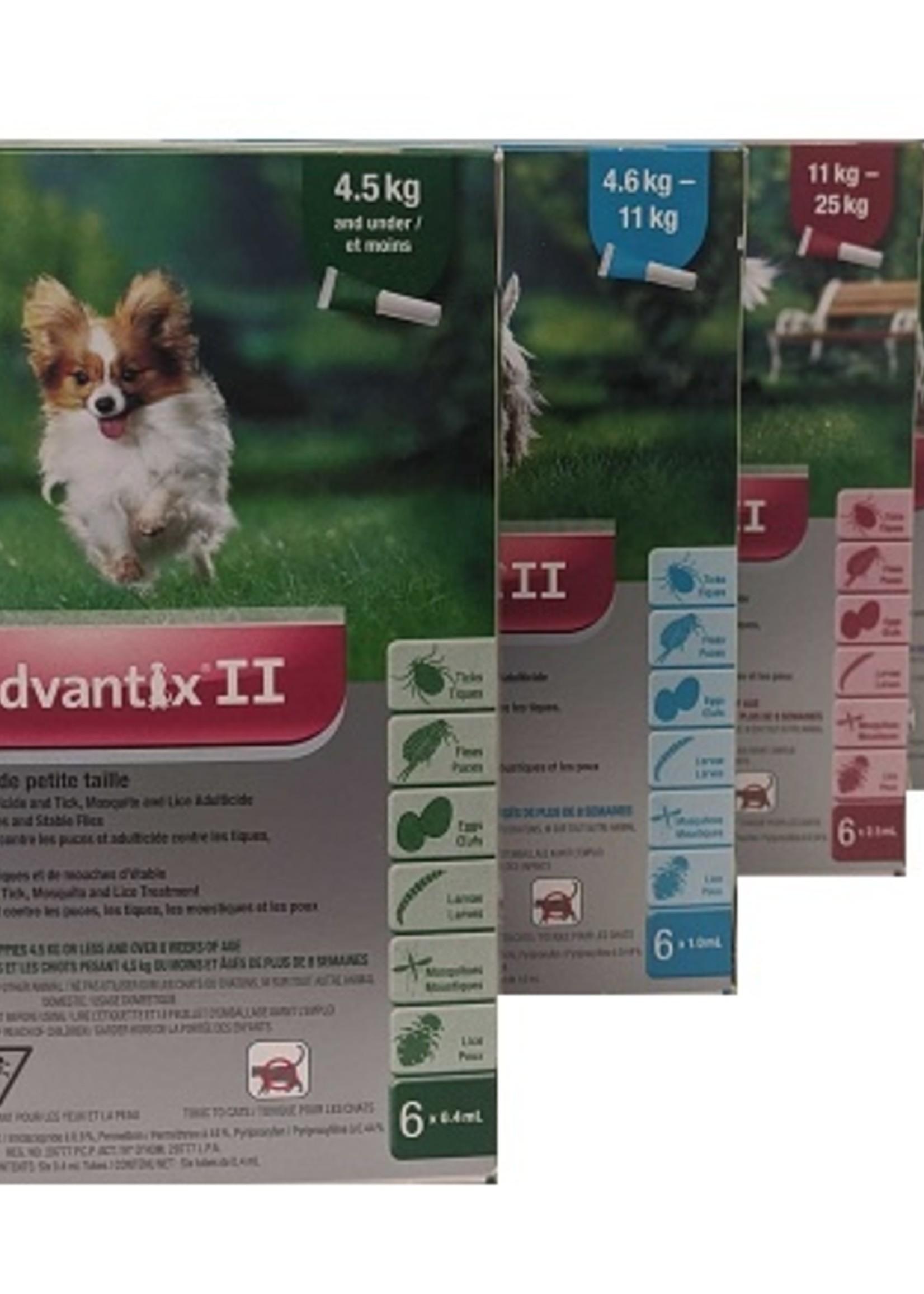 Bayer K9 Advantix II Medium Dog 6 Doses x1.0ml