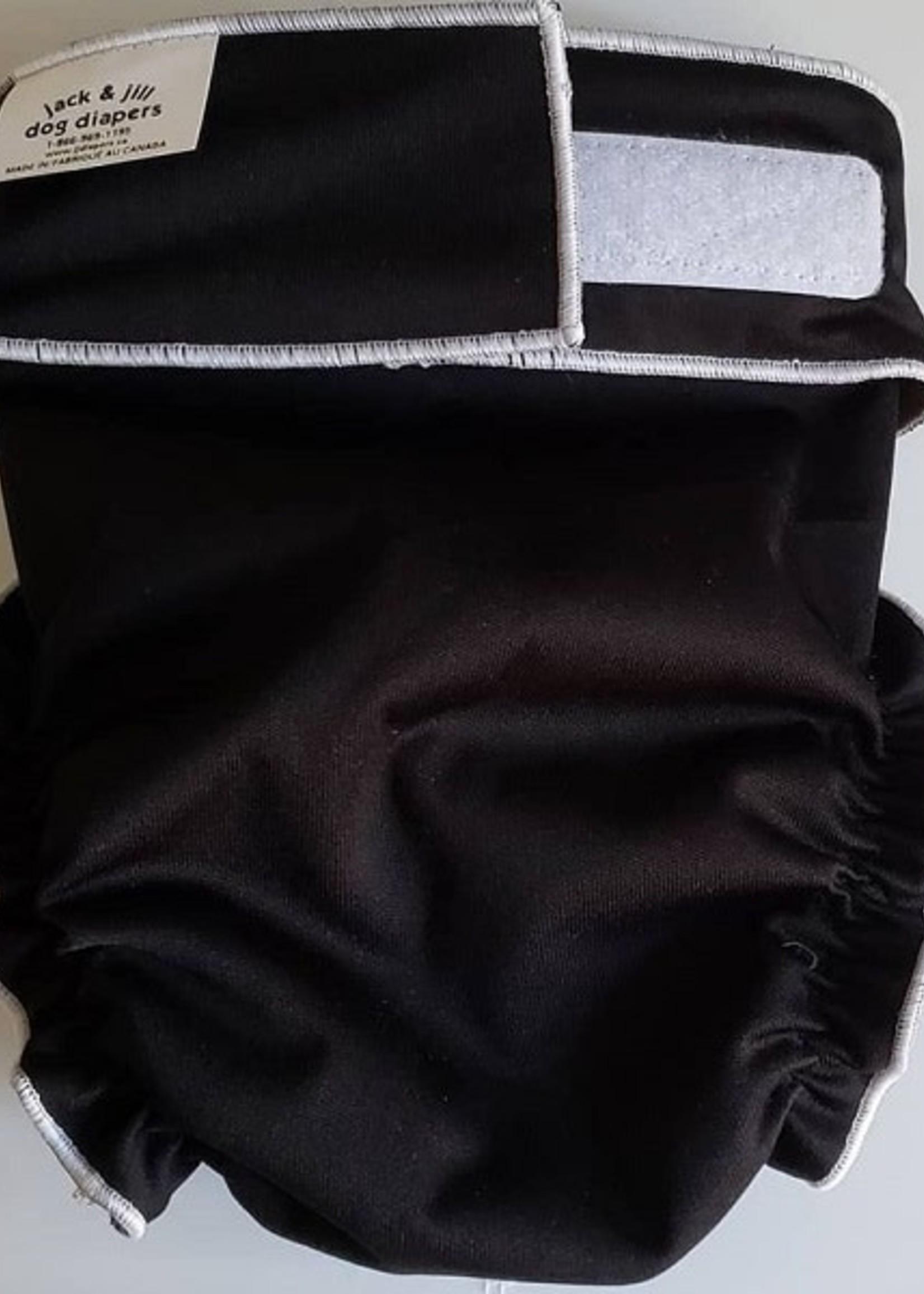 Jack N Jill Female Dog Diaper 2XS Black