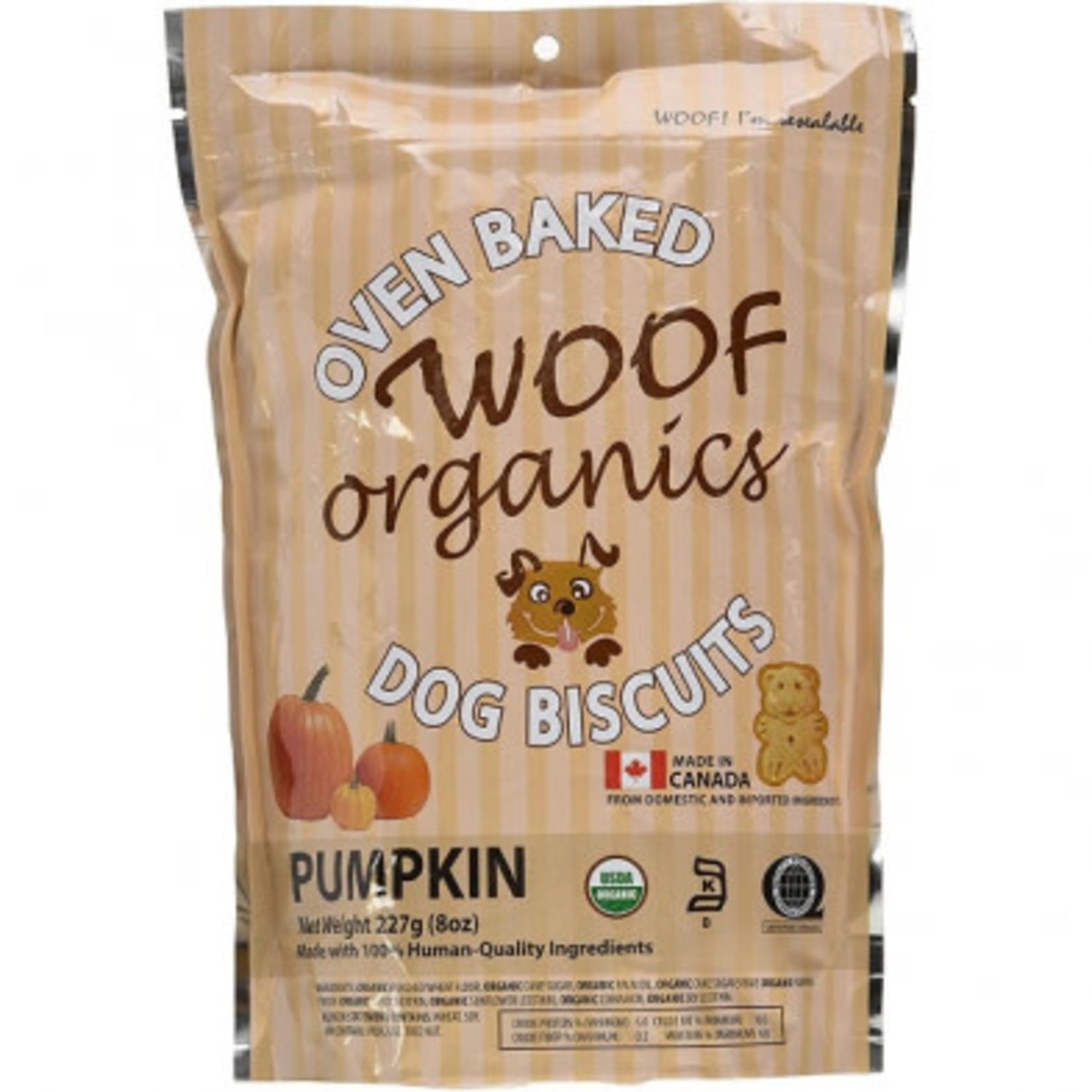 Woof Concept Organic Dog Biscuits Pumpkin 227 g