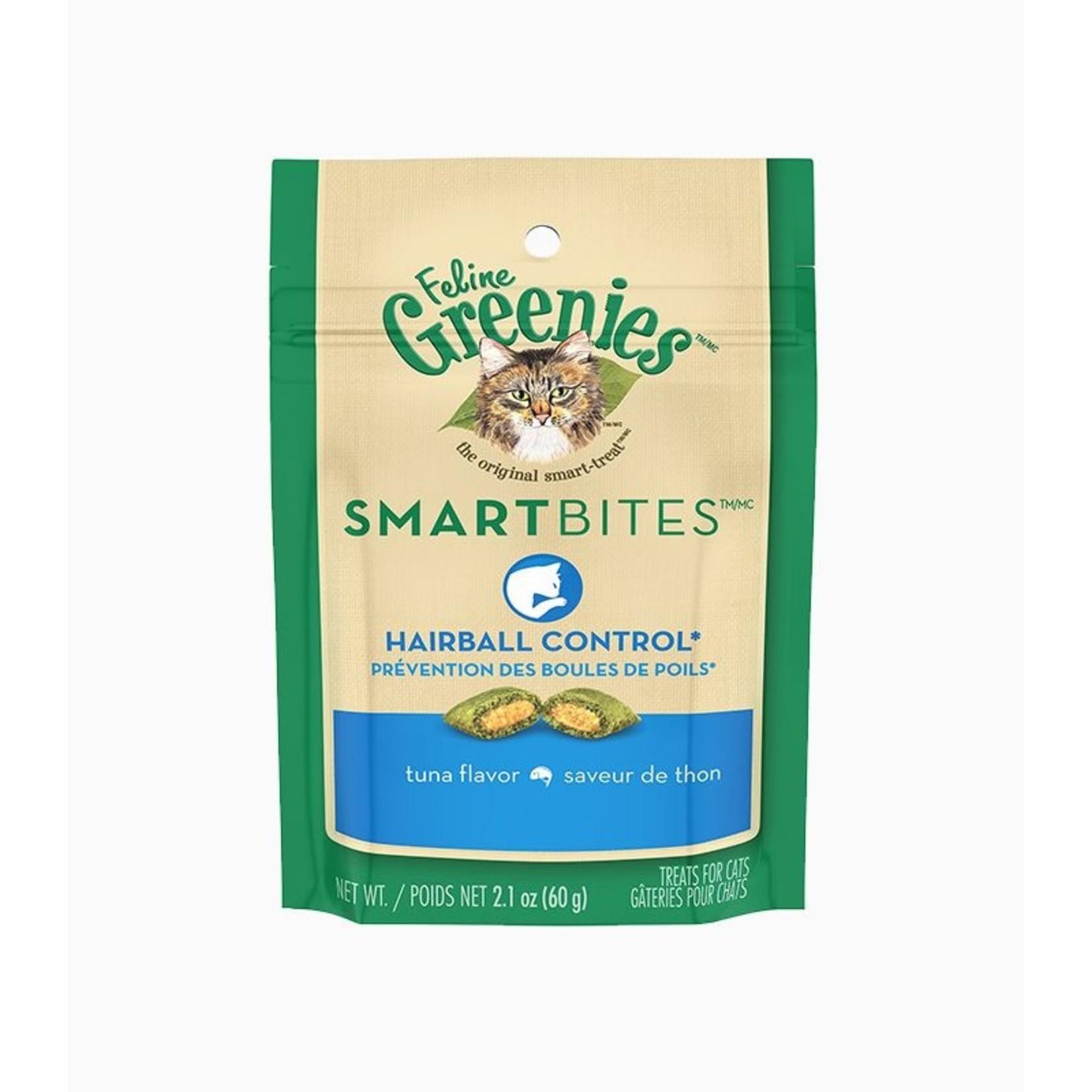 Greenies Feline Smartbites Hairball Tuna 2.1OZ