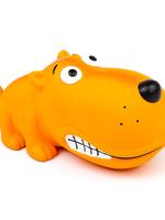 Budz Budz Latex Dog Toy - Big Snout Dog - Squeaker Yellow