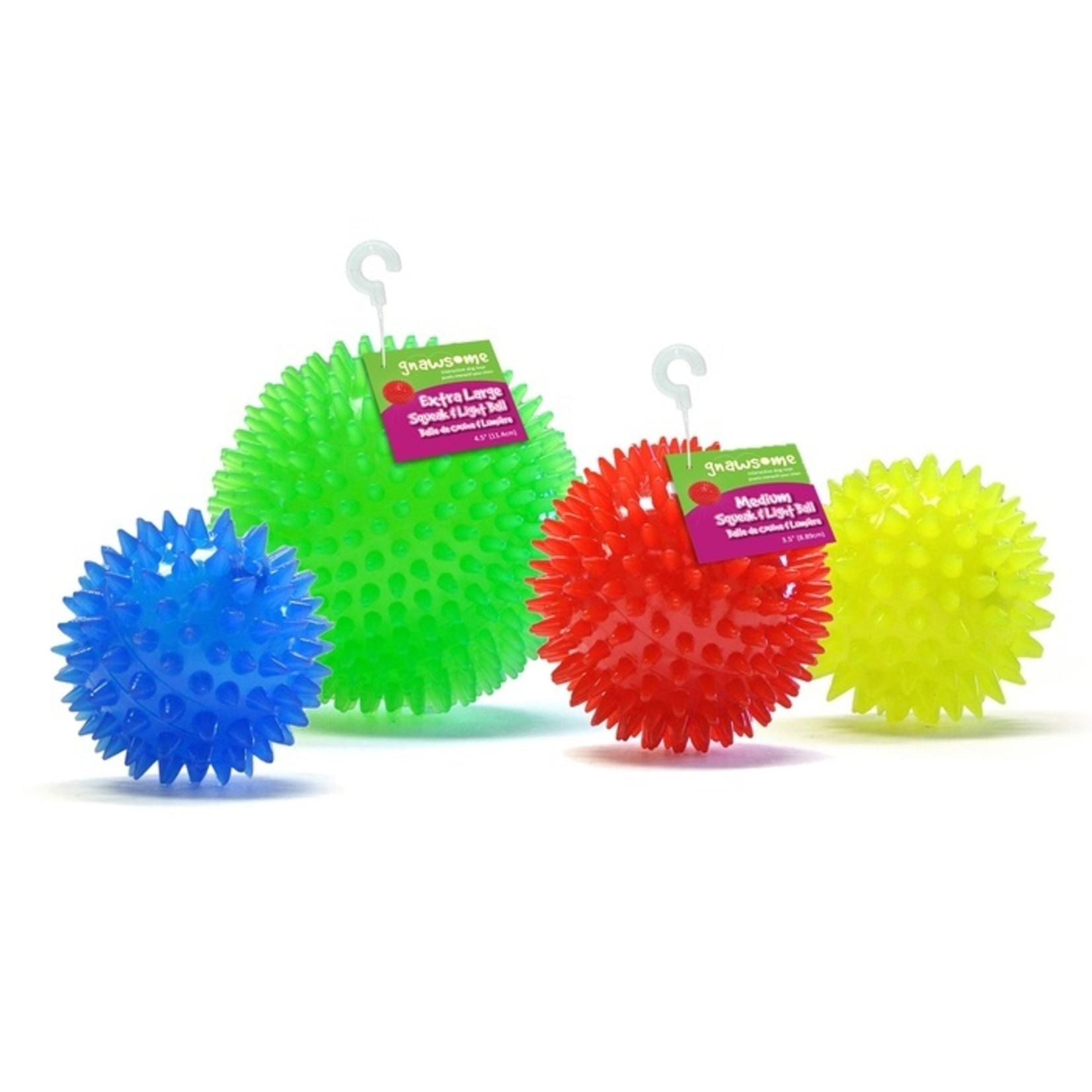 gnawsome Gnawsome Squeaker & Light Ball