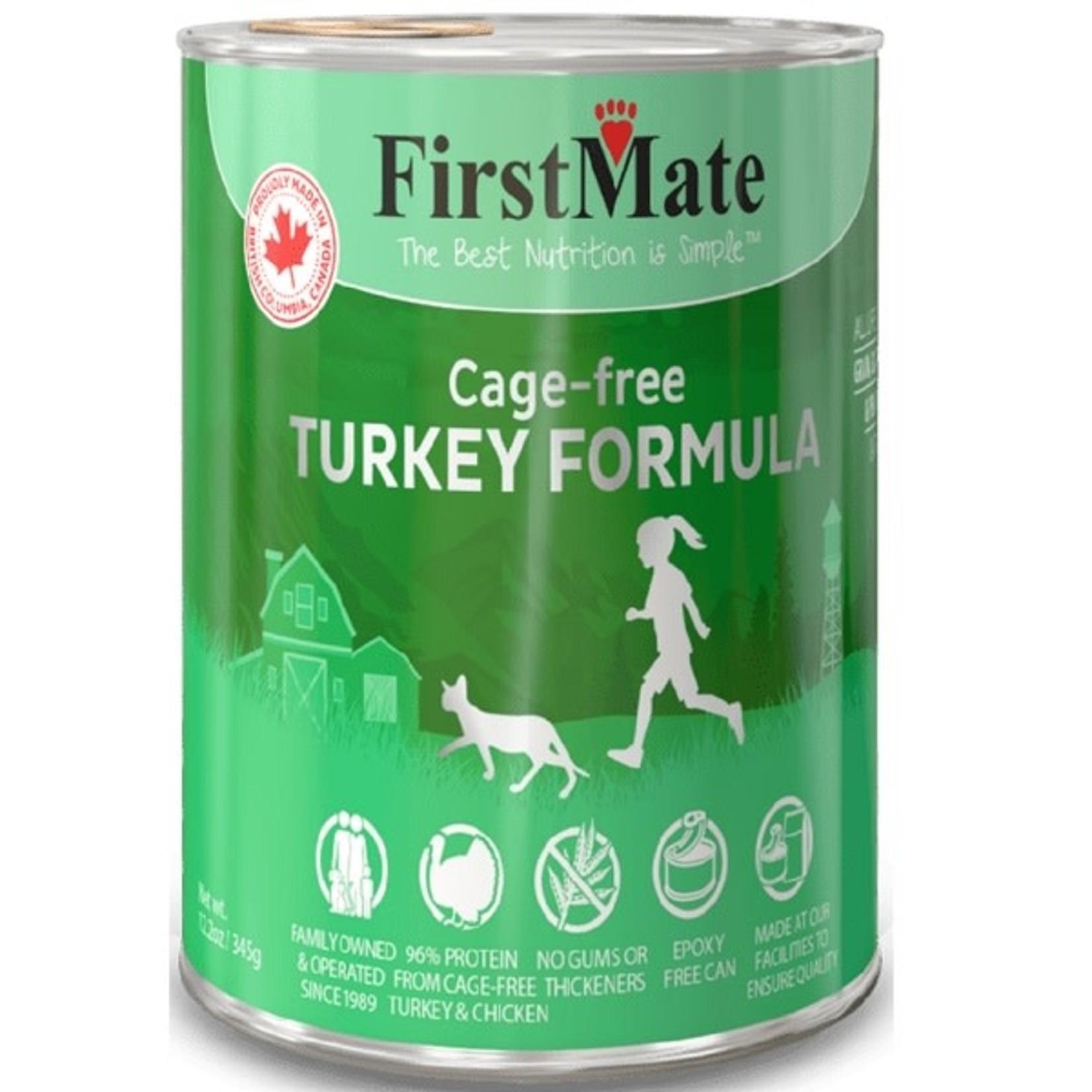 First Mate Free Run Turkey/Wild Tuna CAT 12oz