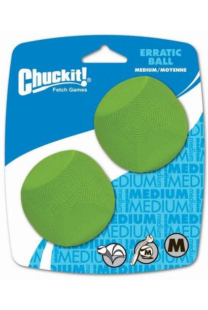 Chuckit! Erratic Ball Med 2pk