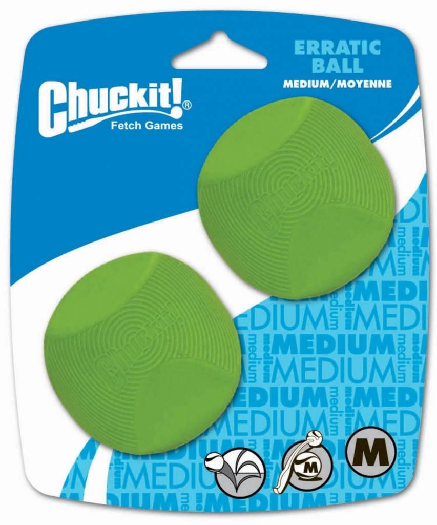 Chuckit! Erratic Ball Med 2pk-1