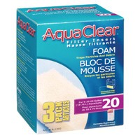 AquaClear 20 Foam Filter insert, 3 pack-1