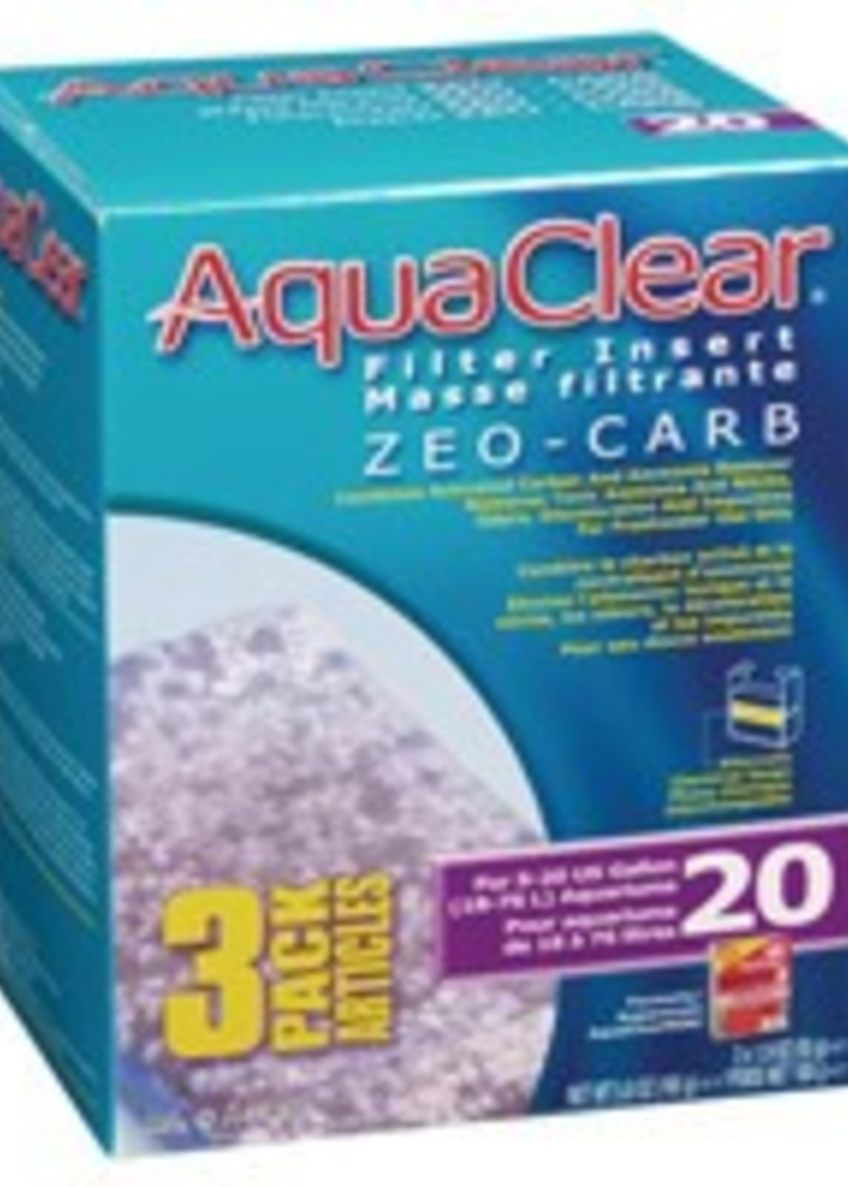 AquaClear 20 Zeo-Carb Filter insert, 3 pack, 165 g (5.8 oz )