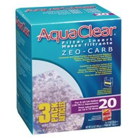 AquaClear 20 Zeo-Carb Filter insert, 3 pack, 165 g (5.8 oz )-1