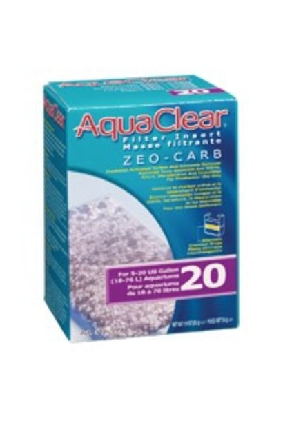 AquaClear 20 Zeo-Carb Filter Insert, 55 g (1.9 oz)