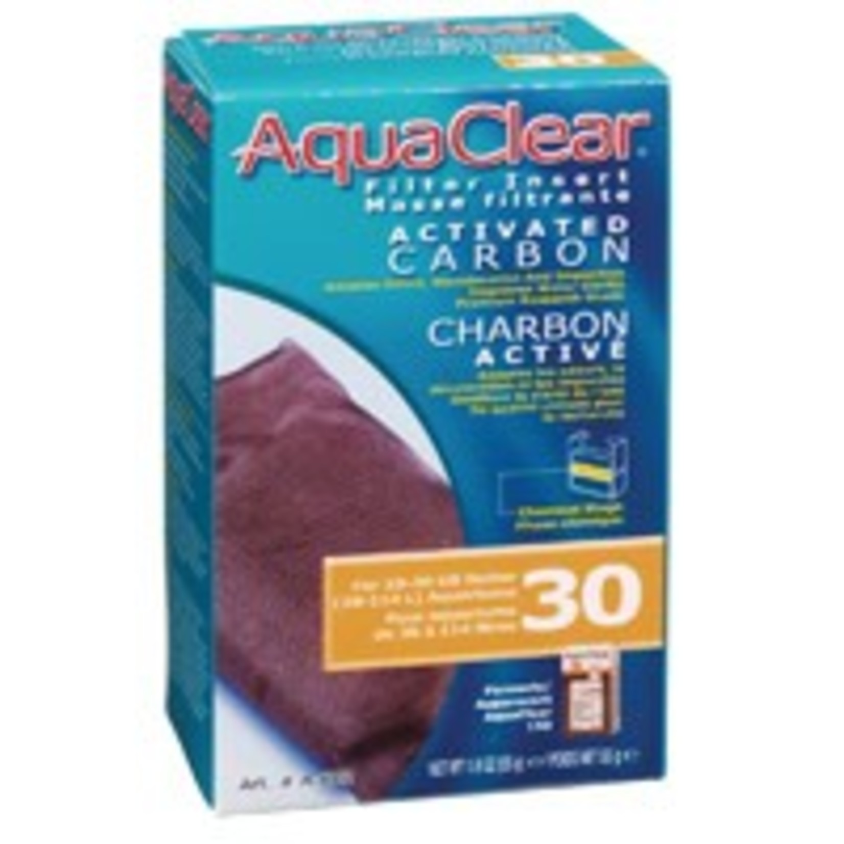 AquaClear 30 Activated Carbon Filter Insert , 55 g (1.9 oz)
