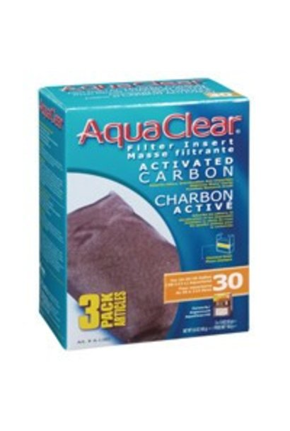 AquaClear 30 Activated Carbon Filter Insert 3 pack, 165 g (5.8 oz)