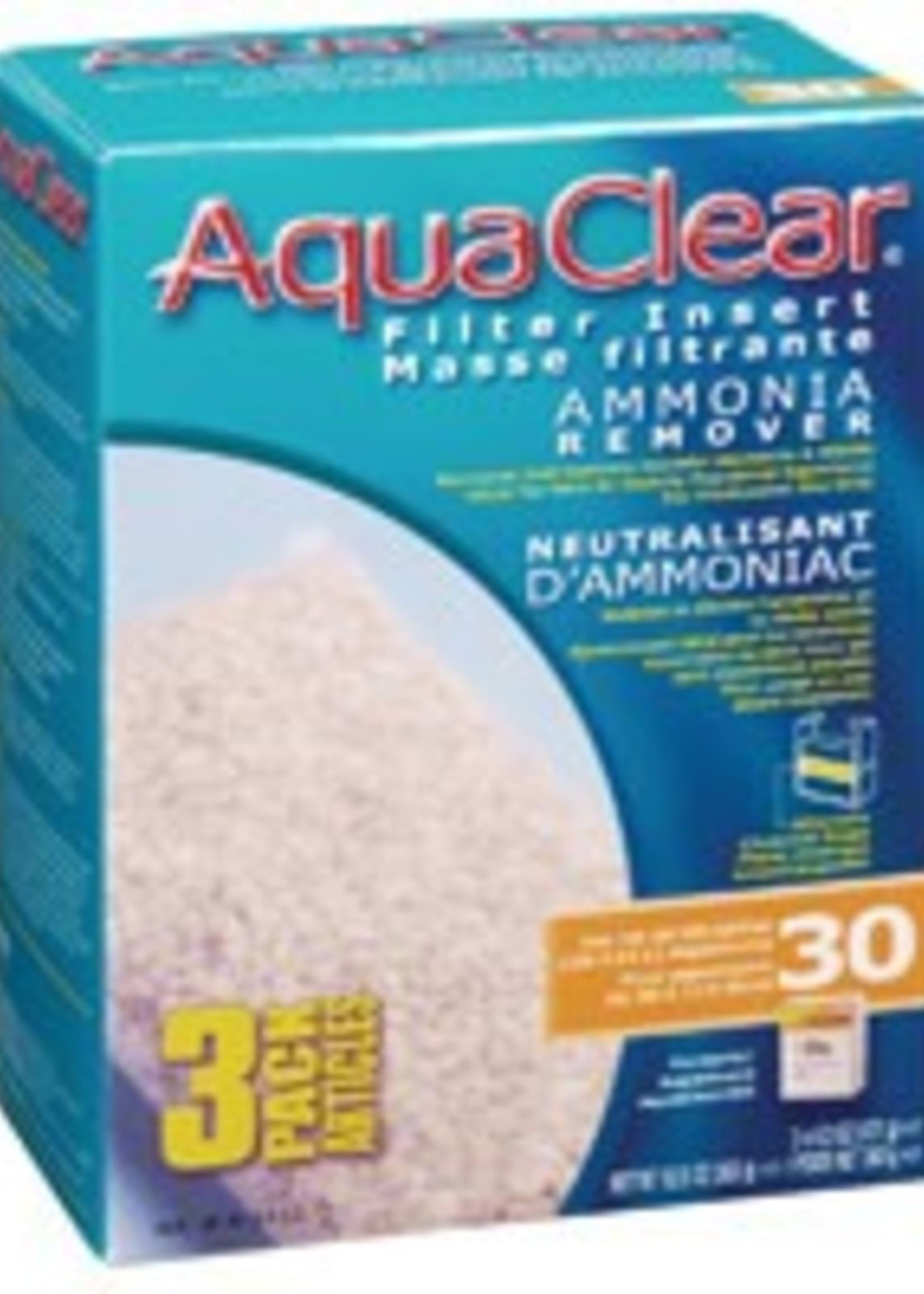 AquaClear 30 Ammonia Remover Filter Insert 3 pack, 363 g (12.8 oz)