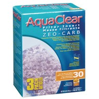 AquaClear 30 Zeo-Carb Filter insert, 3 pack, 195 g (6.9 oz )-1