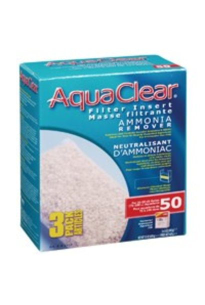 AquaClear 50 Ammonia Remover Filter Insert 3 pack, 429 g (15 oz)
