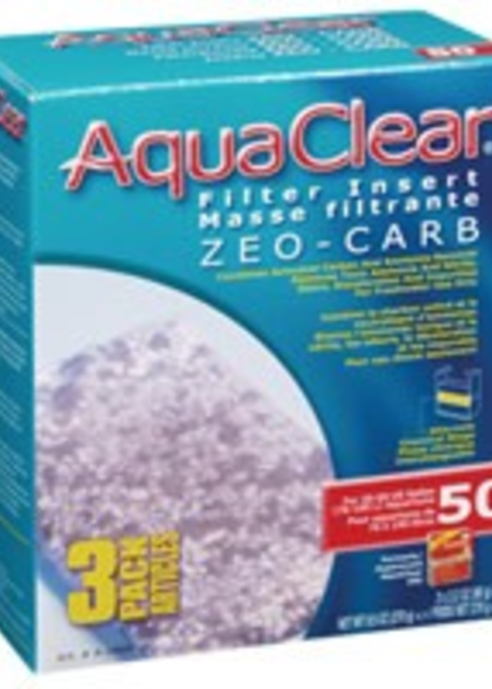 AquaClear 50 Zeo-Carb Filter insert, 3 pack, 270 g (9.5 oz )
