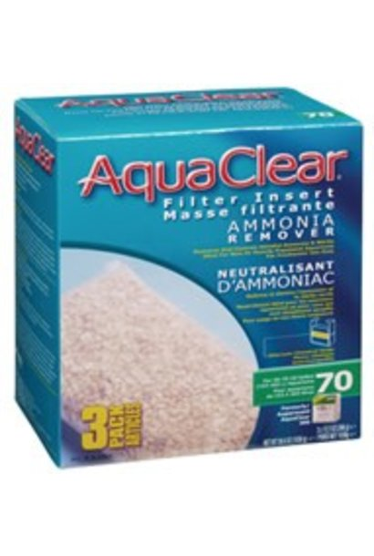 AquaClear 70 Ammonia Remover Filter Insert 3 pack, 1038 g (36.6 oz)