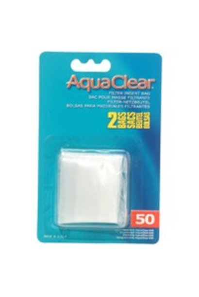 AquaClear Nylon Filter Media Bags for AquaClear 50 Power Filter, 2 pack