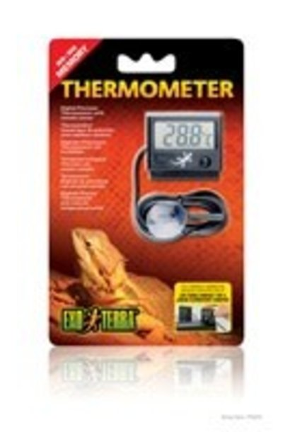Exo Terra Digital Thermometer w/Probe, C&F