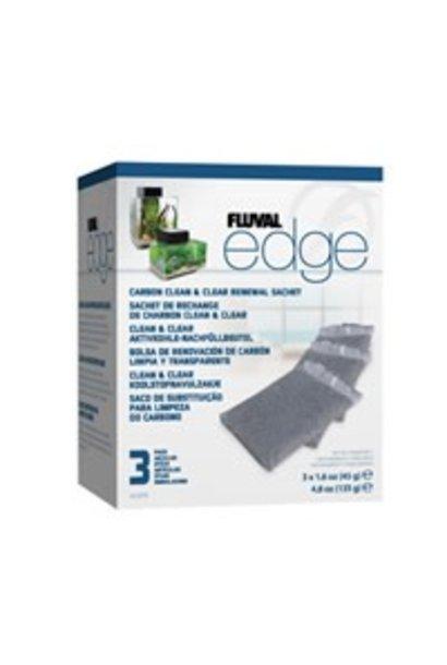 Fluval EDGE Carbon Clean & Clear Sachet, 3 pack