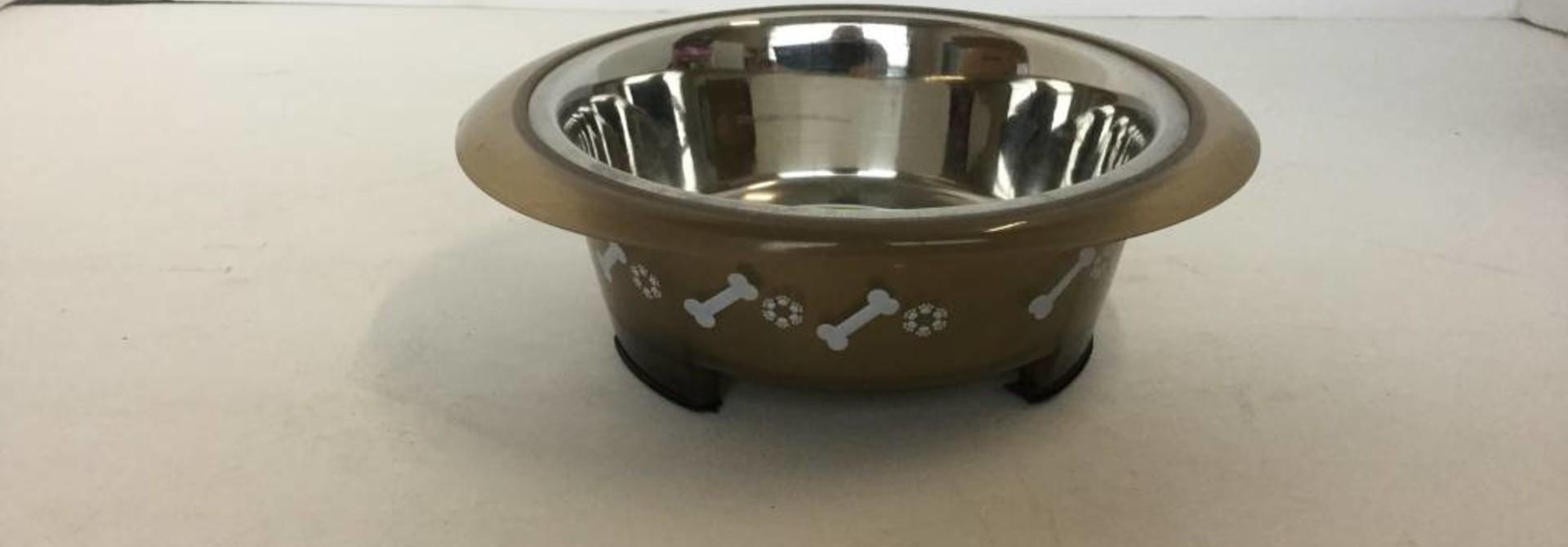 Buddy's Line Brown Small Dog Bowl 473mL