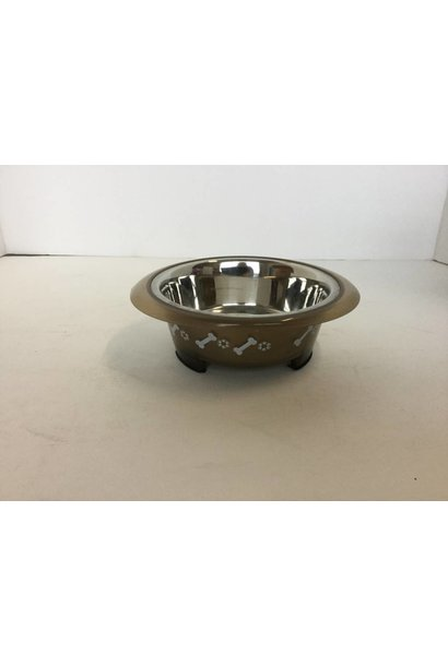 Buddy's Line Brown Small Dog Bowl 473mL